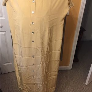 Women orvis silk dress yellow size 20